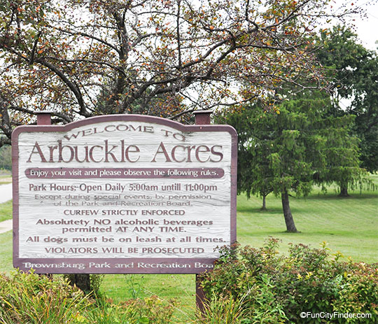 Arbuckle Acres Sign Brownsburg