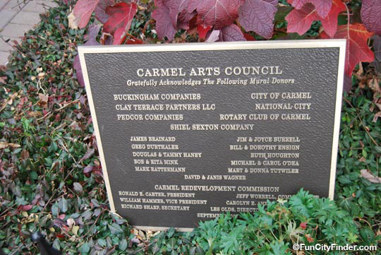 Plaque Carmel Arts Council