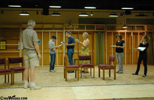 The Carmel Community Players Rehearsing