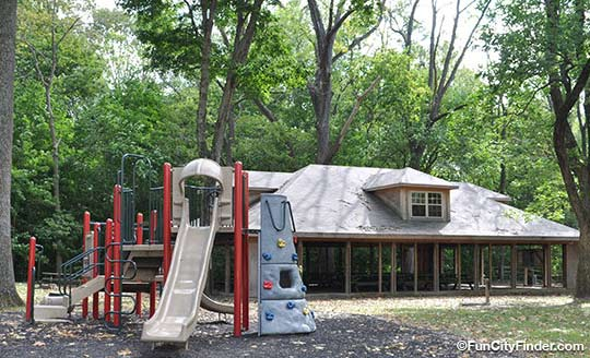 Playground And Shelter At Ellis Park In Danville