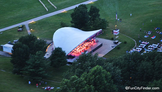 Aerial View Theater At Conner Prarie