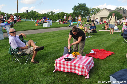 People On Lawn At Conner Prairie Fishers