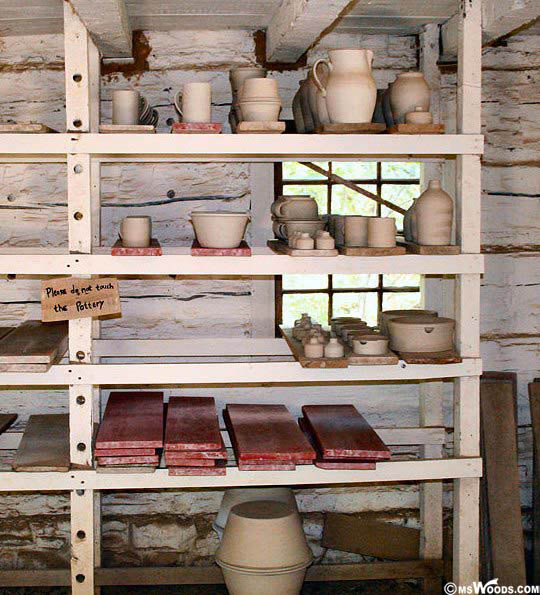 Pottery Drying At Conner Prairie
