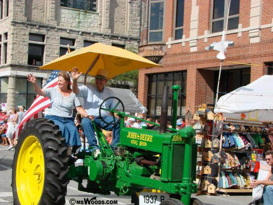 John Deer Tractor Riley Days Parade Greenfield Indiana