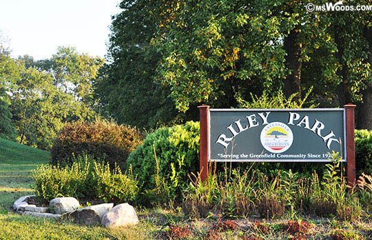 Riley Park Sign Greenfield Indiana