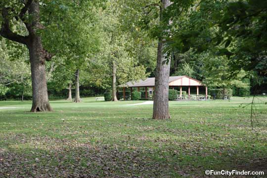 Picnic Area At Westside Park In Greenwood