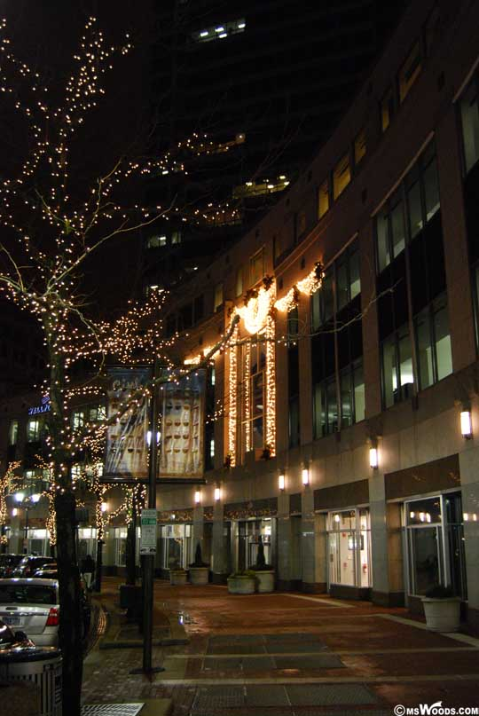 Monument Circle Sidewalk View Christmas Lights 2