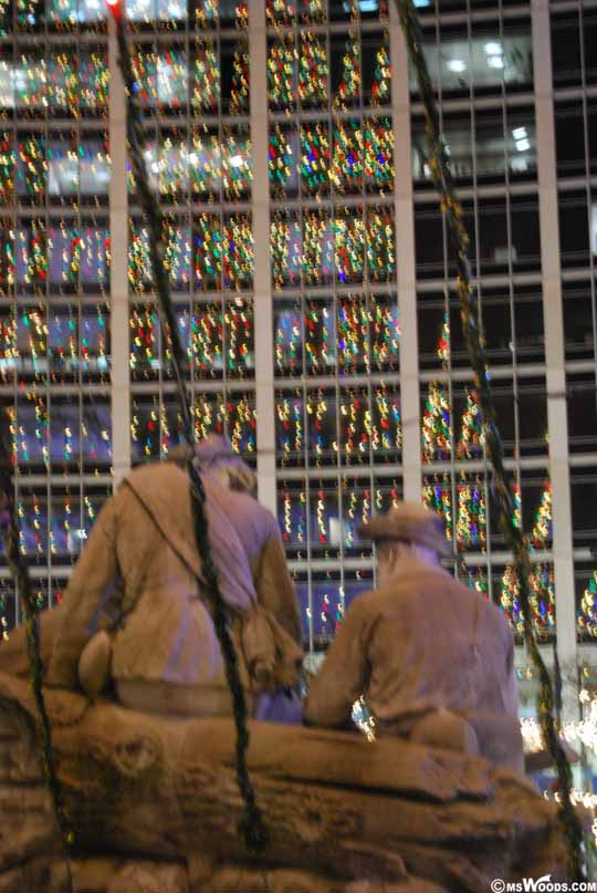 Soldier Statue Christmas Lights
