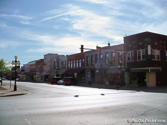 Main Street In Downtown Martinsville Indiana