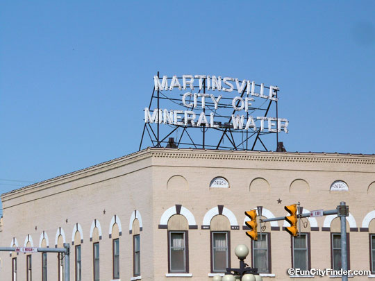 Mineral Water Sign In Downtown Martinsville