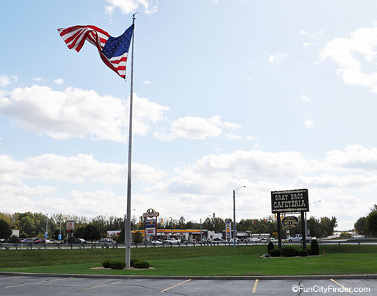 Mooresville Scene With Flag