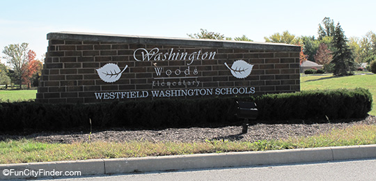 Washington Woods Elementary Sign