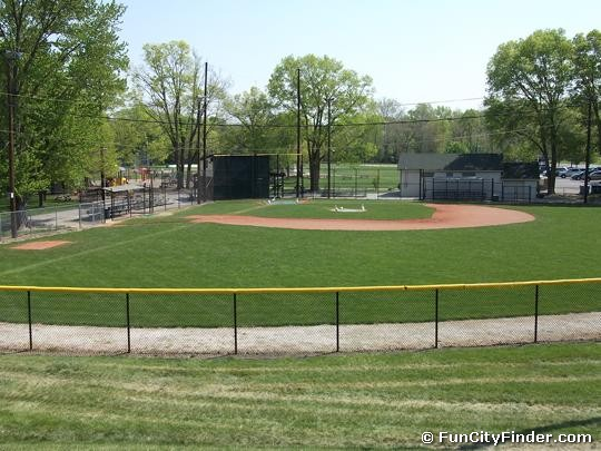 Baseball Diamond In Lions Park Zionsville Indiana