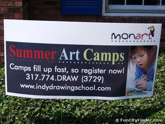 Summer Art Camps Sign Zionsville