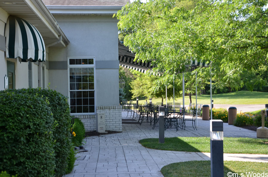 An Outdoor Dining/Patio Area the Harbour Trees Golf Course