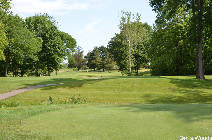 Rolling Terrain at the Harbour Trees Golf Course in Noblesville