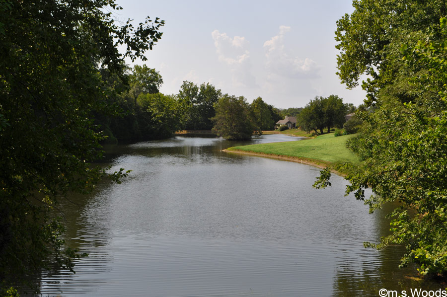 Photo of a Lake, with River Glen Golf Course Homes in the Distance