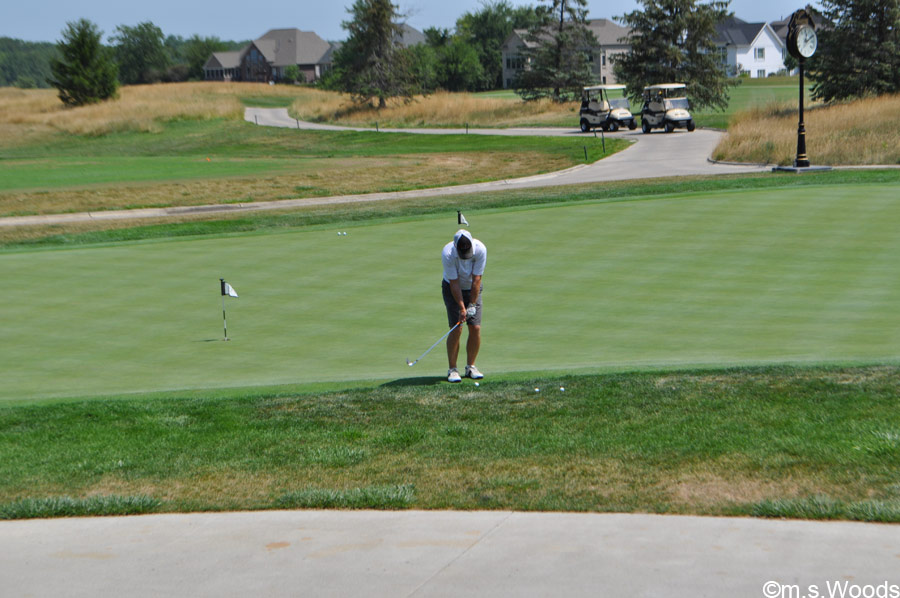 A Golfer on a Putting Green