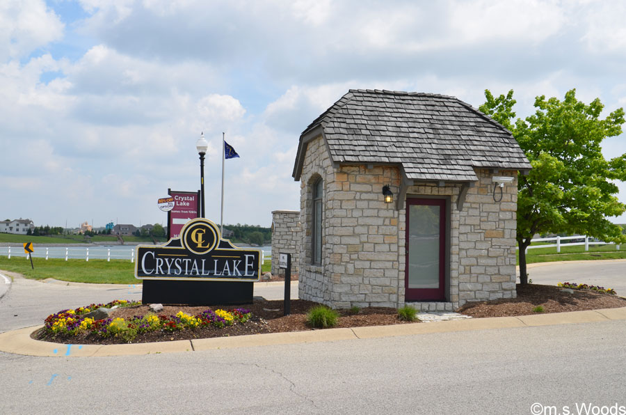 Entrance to Crystal Lake Neighborhood