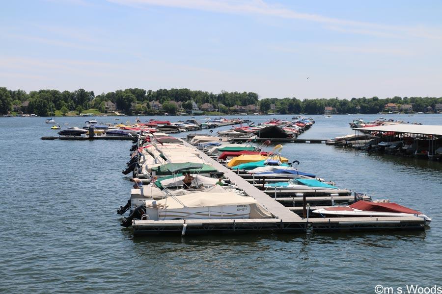 Boats Docked at Geist Marina