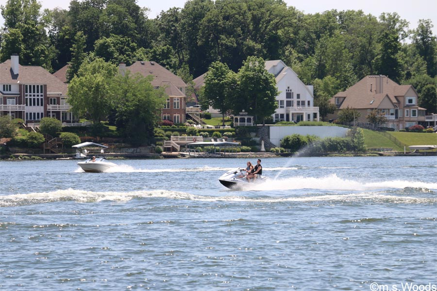 Jet Skiing on Geist Lake