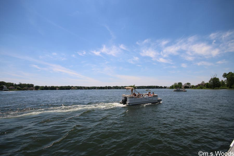 A Pontoon Boat on Geist Lake