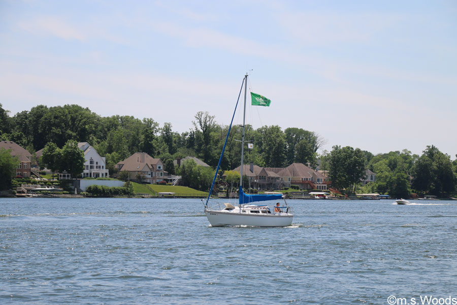 A Sail Boat on Geist Lake