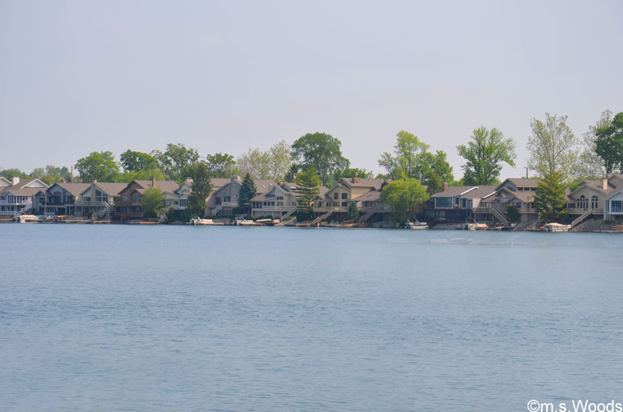 Homes Along the Shoreline in Lake Clearwater