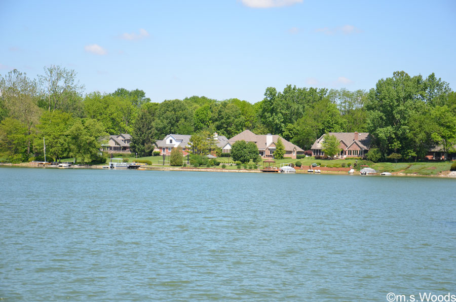 Photo of Lake Kesslerwood, with Homes Situated Along the Shoreline