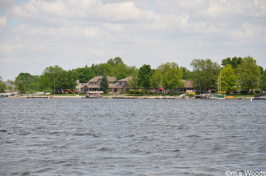 Homes Along the Morse Reservoir Shoreline