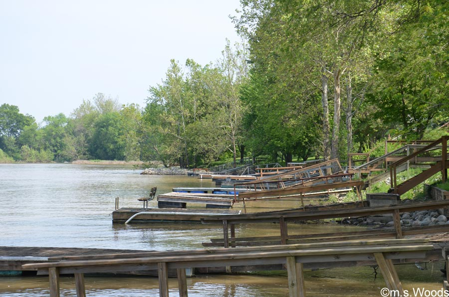Boat Docks Along the Shoreline