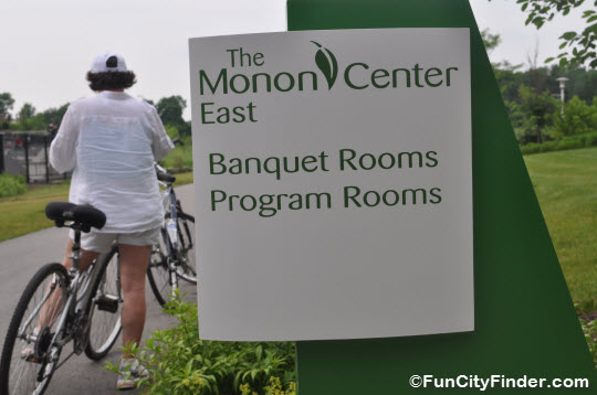 Cyclist on the Monon Trail