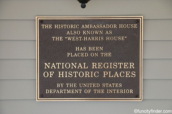 plate-outside-ambassador-house-at-fishers-heritage-park-at-white-river