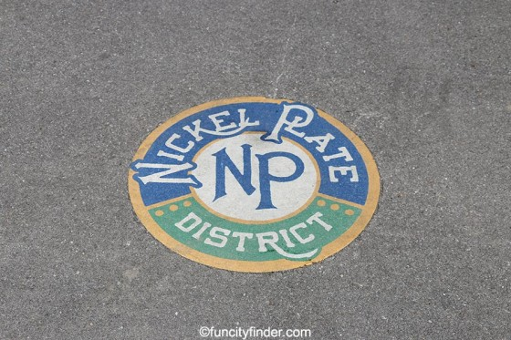 sidewalk-decal-at-nickel--plate-district-amphitheater