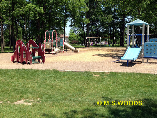 Toddler section of the Roy Holland Park in Sunblest Farms subdivision, Fishers, IN